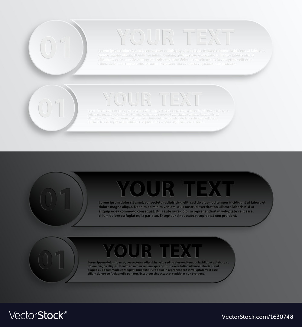 Paper web button interface vector | Price: 1 Credit (USD $1)