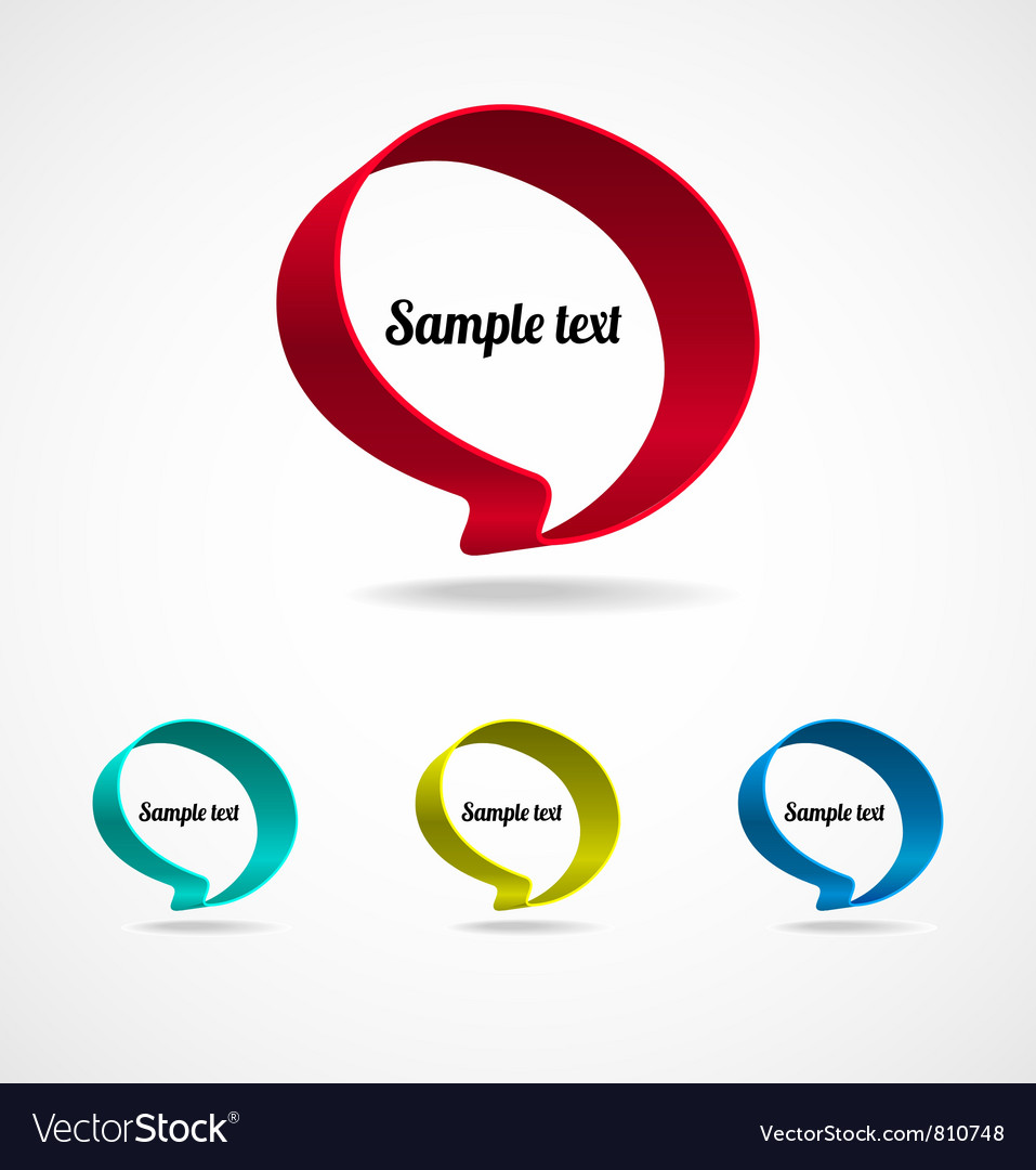Ribbon speech bubble vector | Price: 1 Credit (USD $1)