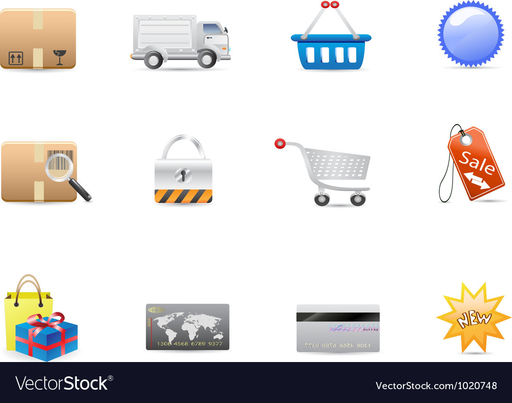 Shopping consumerism icon set vector | Price: 1 Credit (USD $1)