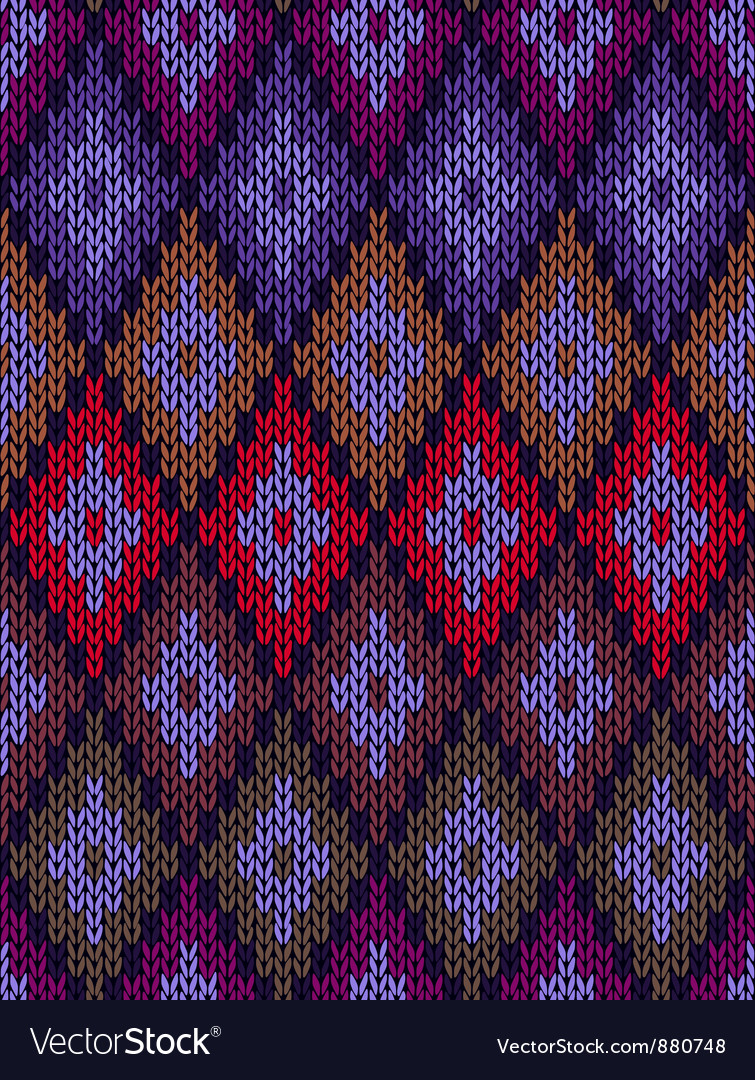 Style seamless color knitted pattern vector | Price: 1 Credit (USD $1)