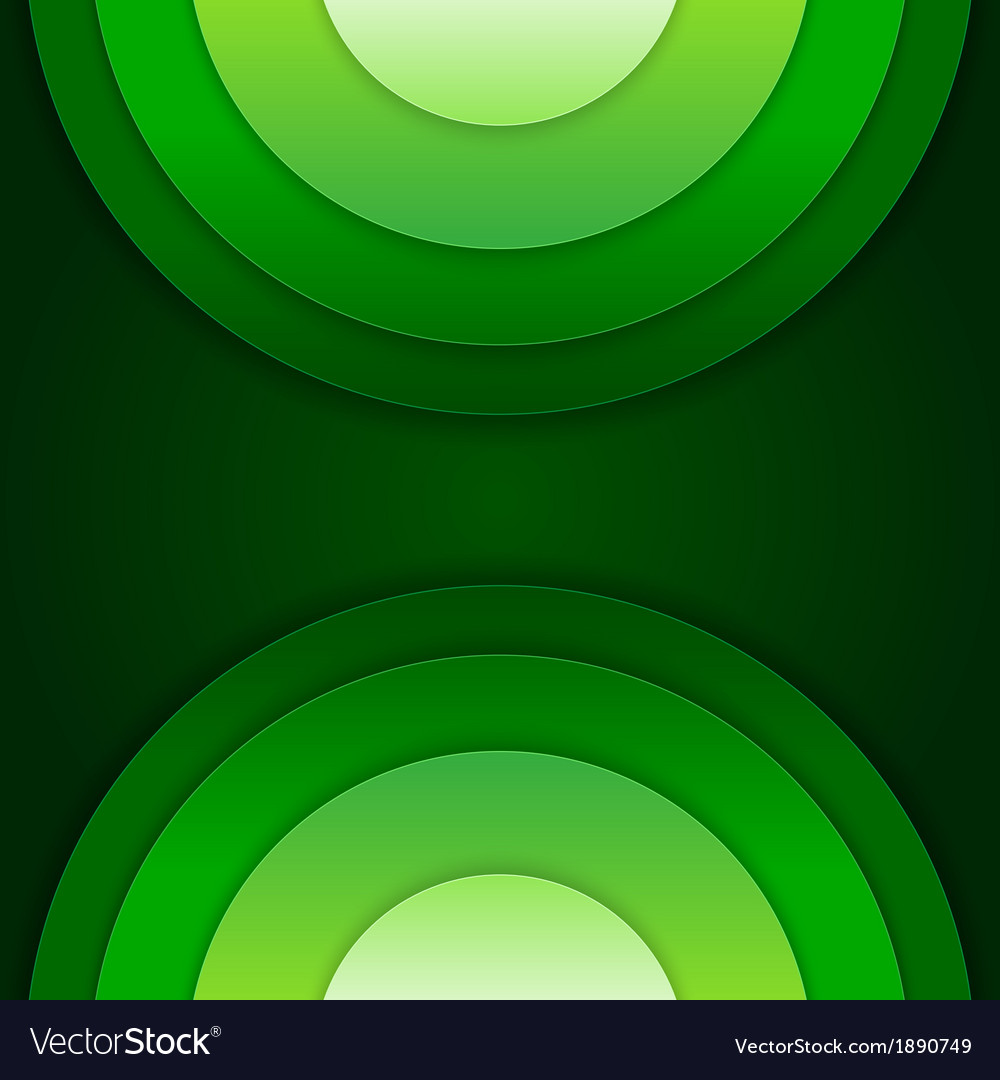 Abstract green paper circles background vector   Price: 1 Credit (USD $1)