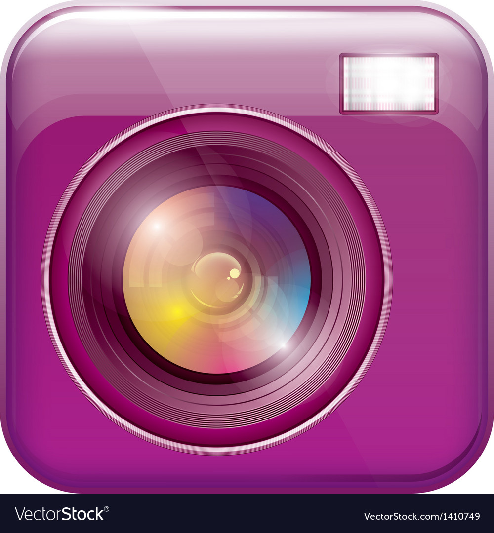 App icon with camera lens vector | Price: 1 Credit (USD $1)