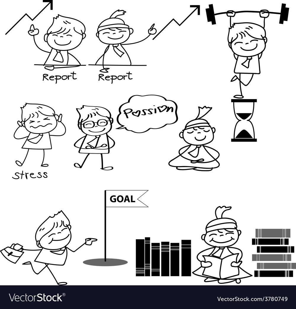 Cartoon business concept vector | Price: 1 Credit (USD $1)