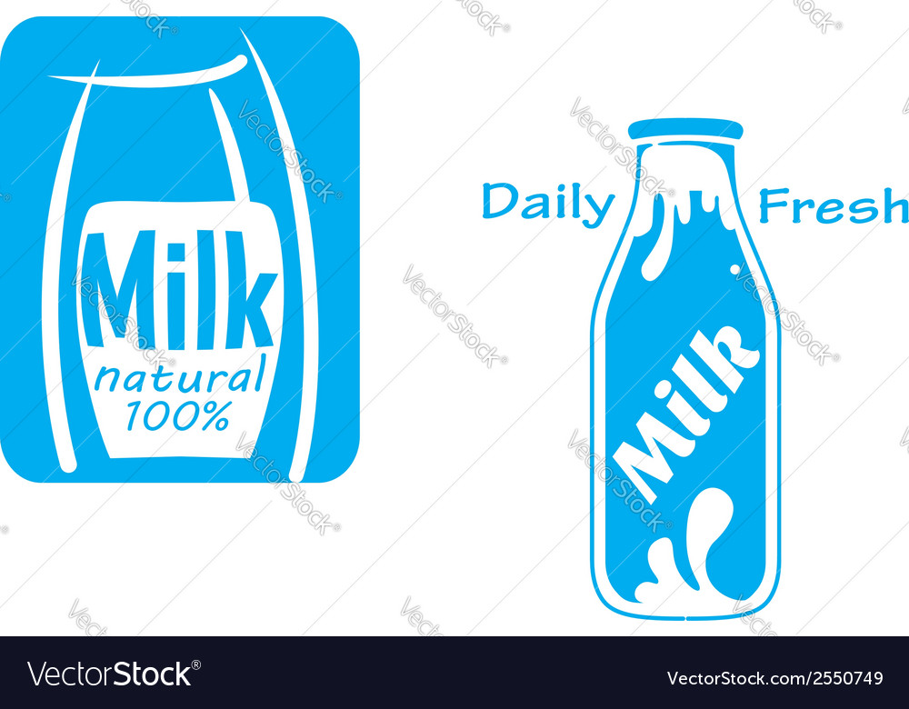 Fresh milk emblems and symbols vector | Price: 1 Credit (USD $1)