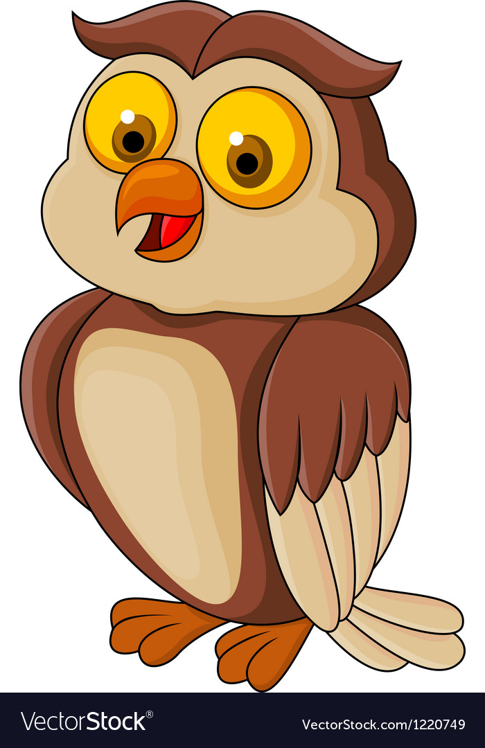 Funny owl cartoon vector | Price: 1 Credit (USD $1)