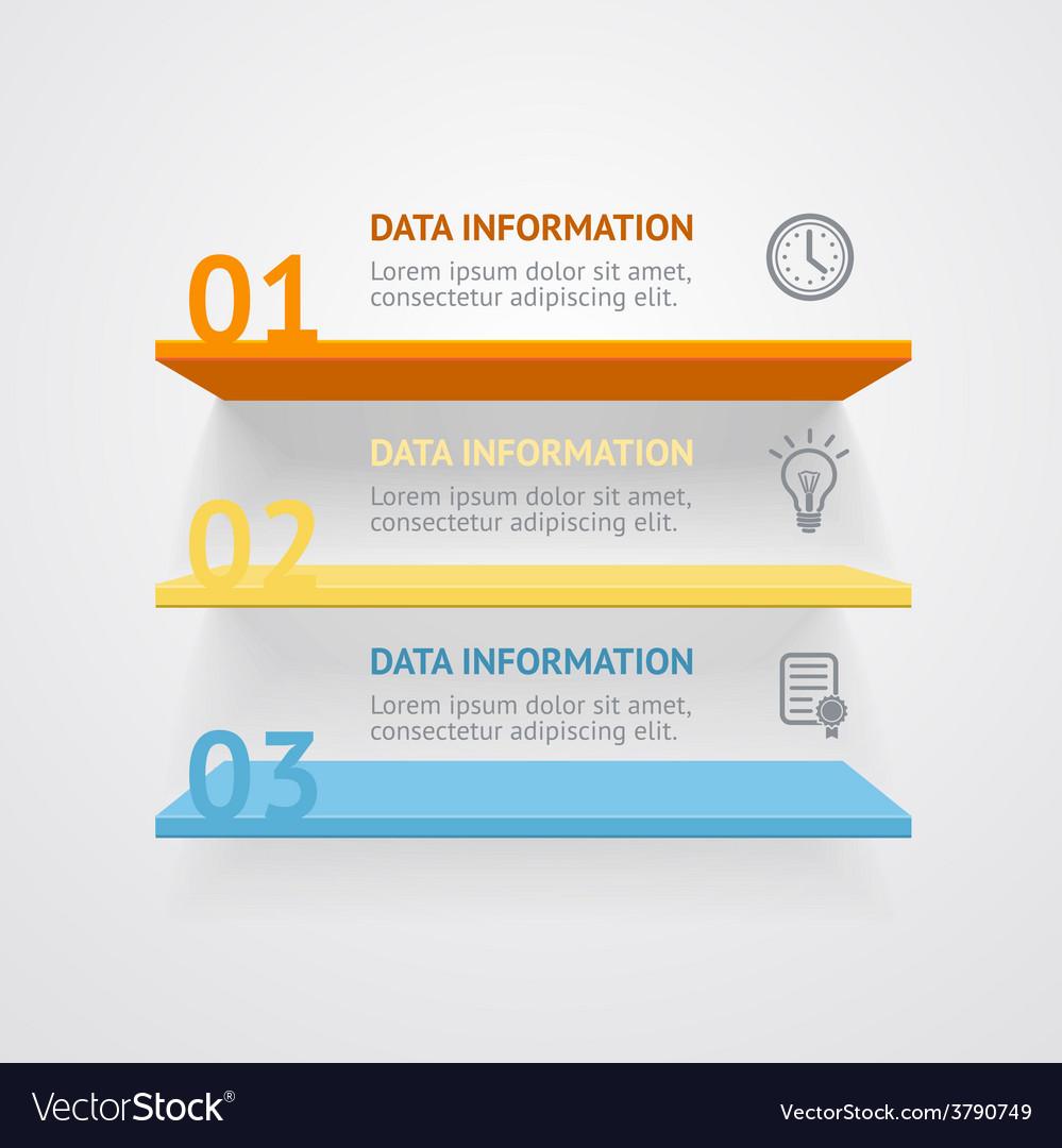 Infografic shelves vector | Price: 1 Credit (USD $1)