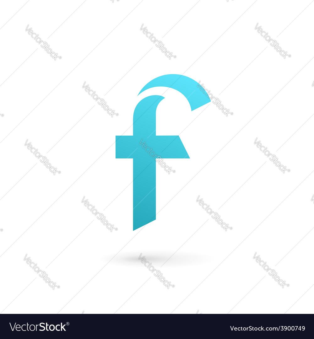 Letter f logo icon design template elements vector | Price: 1 Credit (USD $1)