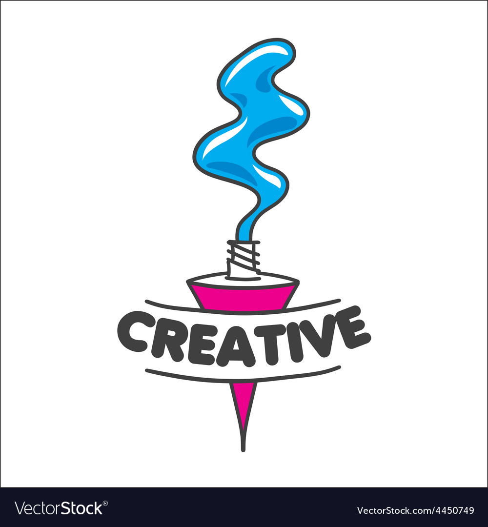Logo tube of paint for creativity vector | Price: 1 Credit (USD $1)
