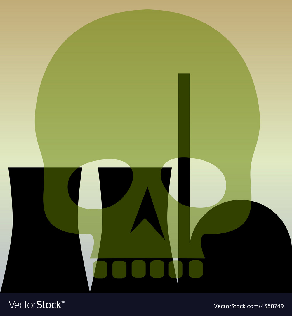 Nuclear power station skull vector | Price: 1 Credit (USD $1)