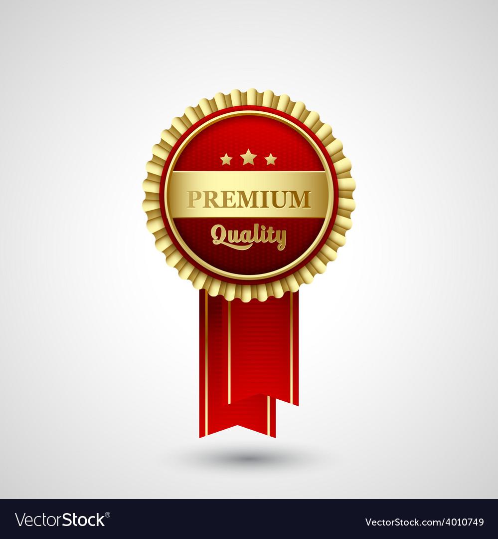 Premium quality badge label vector | Price: 1 Credit (USD $1)