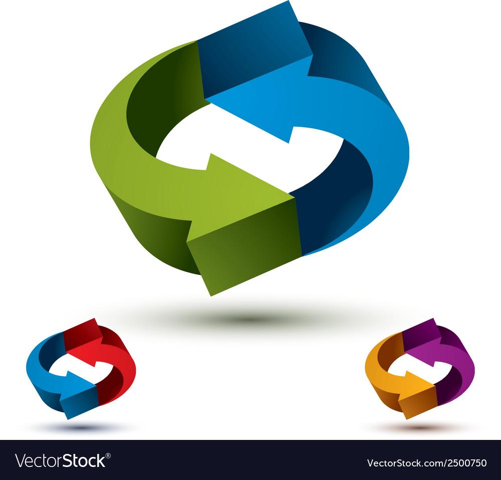 Arrows abstract loop symbol conceptual pictogram vector   Price: 1 Credit (USD $1)