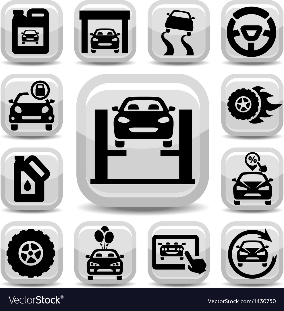 Auto icons set vector | Price: 1 Credit (USD $1)