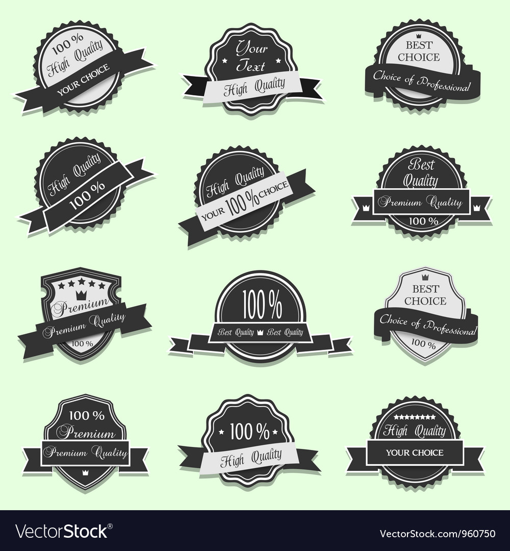 Black premium quality labels vector | Price: 1 Credit (USD $1)