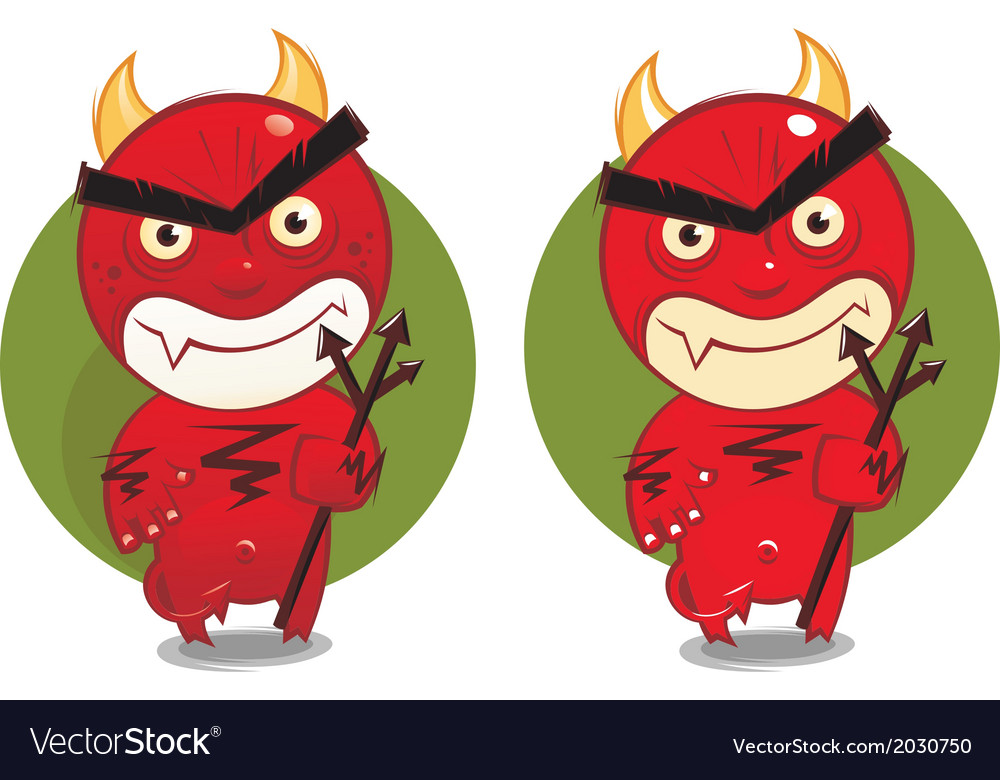 Cartoon devil vector | Price: 1 Credit (USD $1)