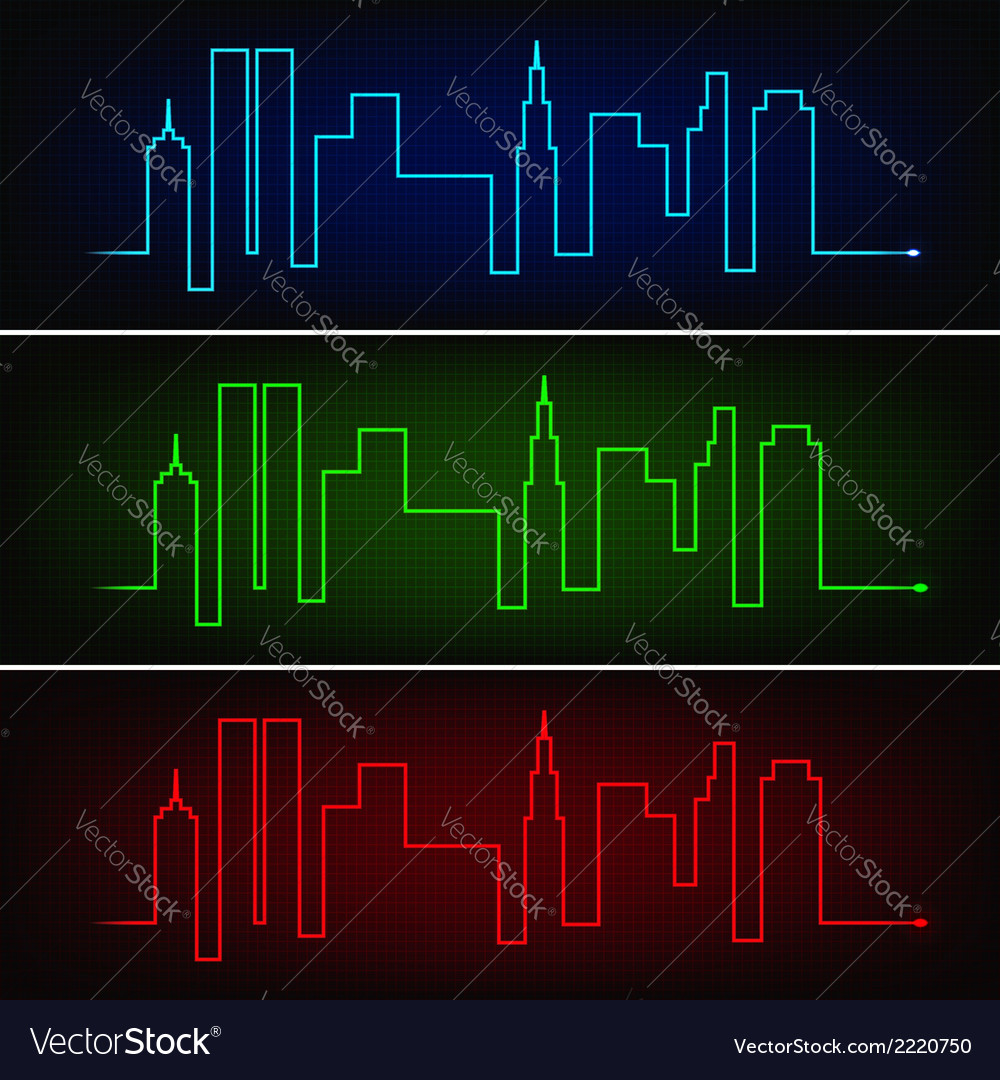 City pulse vector | Price: 1 Credit (USD $1)
