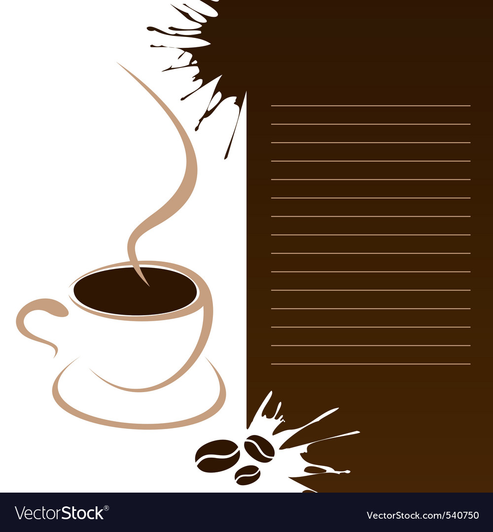 Coffee template vector | Price: 1 Credit (USD $1)
