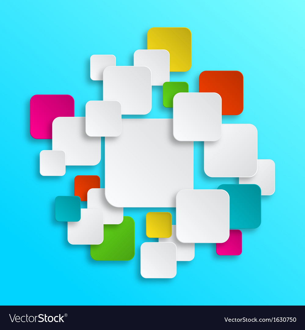 Colorful clean paper stickers vector   Price: 1 Credit (USD $1)