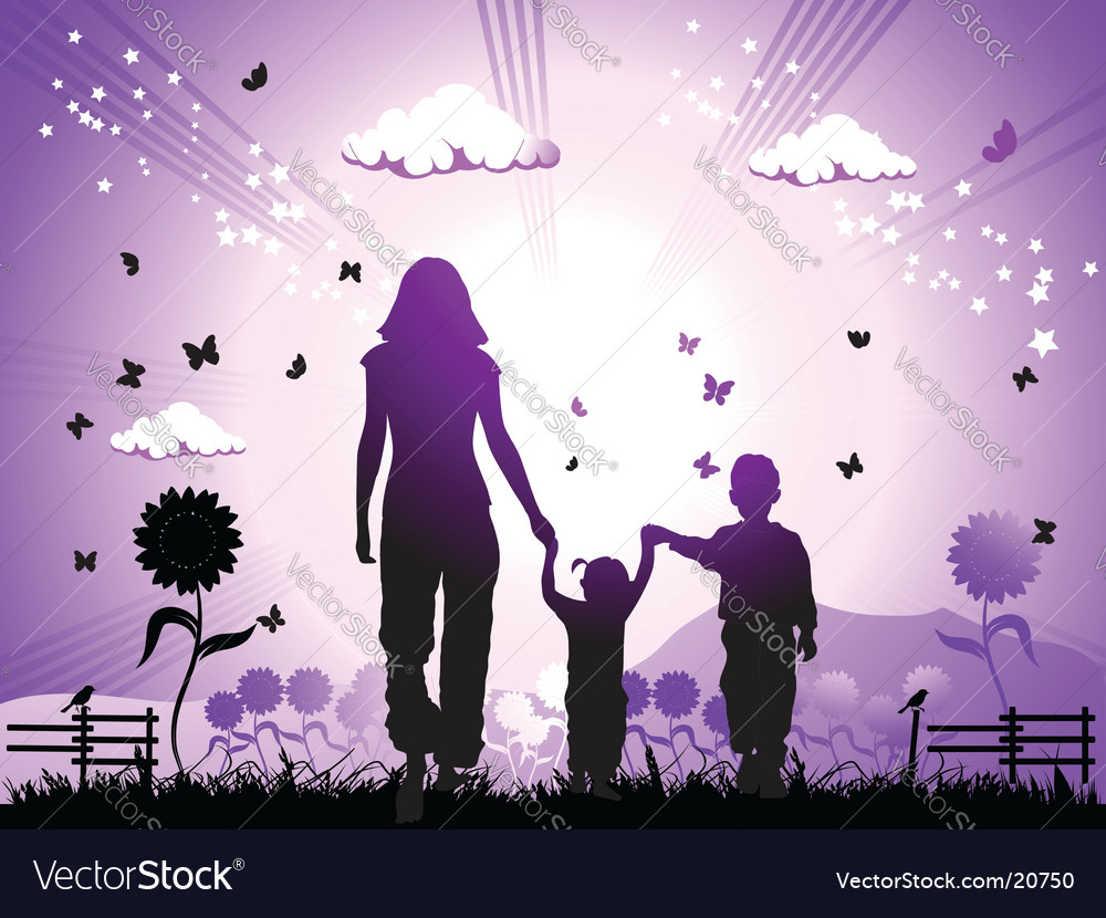 Family and nature vector | Price: 1 Credit (USD $1)