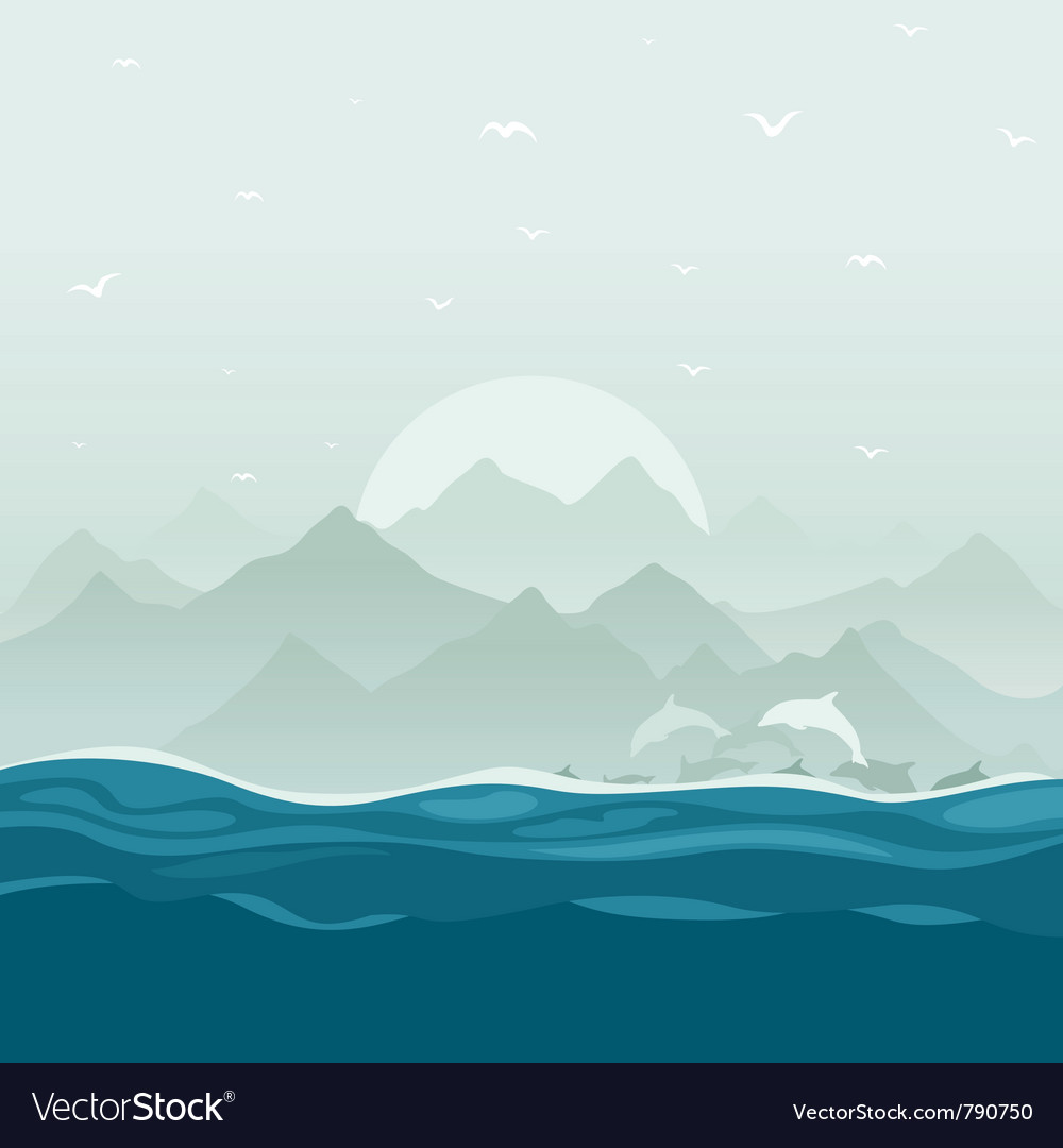 Flight of dolphins vector | Price: 1 Credit (USD $1)