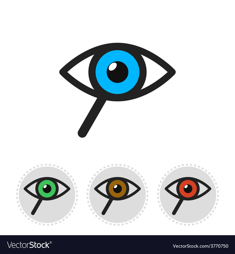 Icon of search consisting of a magnifier and eye vector | Price: 1 Credit (USD $1)