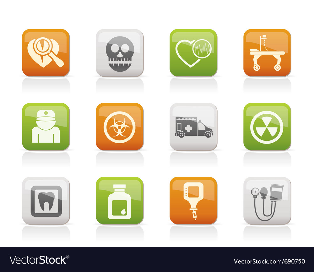 Medicine and hospital equipment icons vector | Price: 1 Credit (USD $1)
