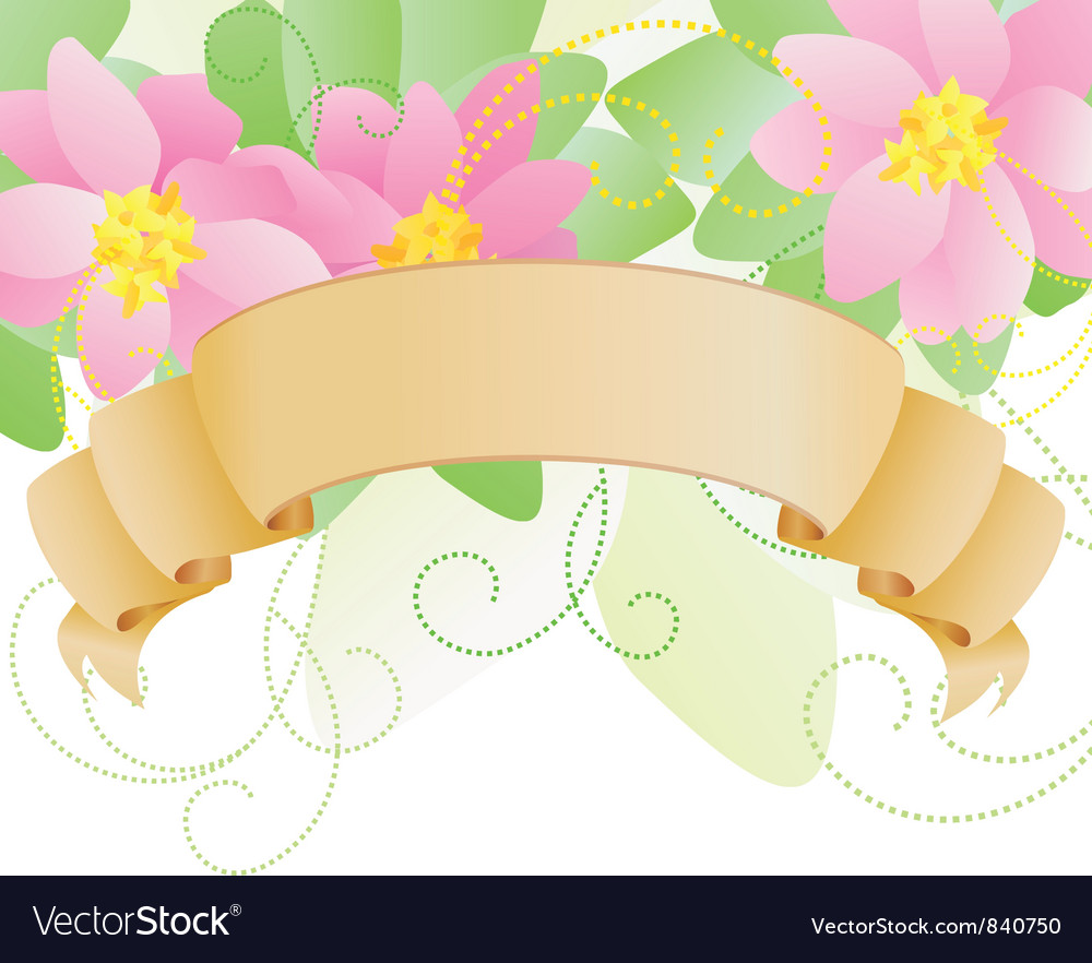 Pink scroll vector | Price: 1 Credit (USD $1)
