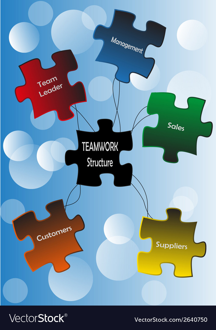 Puzzle teamwork vector | Price: 1 Credit (USD $1)