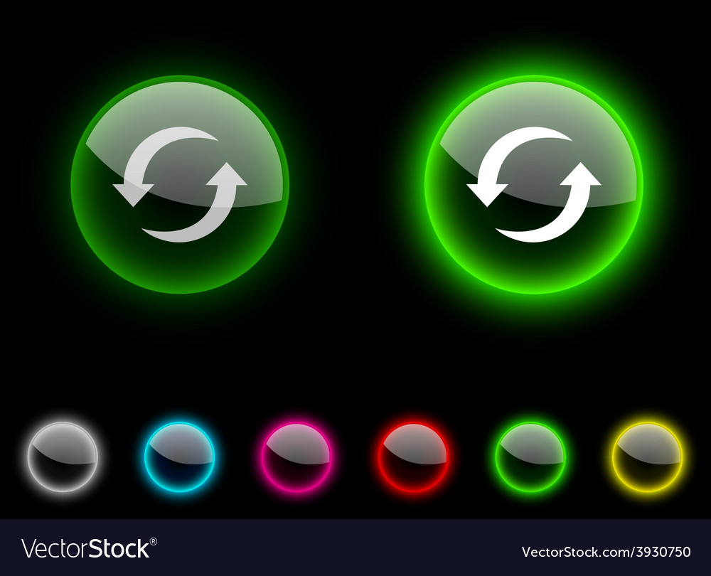 Refresh button vector | Price: 1 Credit (USD $1)