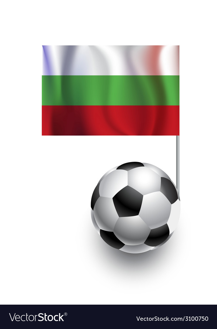 Soccer balls or footballs with flag of bulgaria vector | Price: 1 Credit (USD $1)