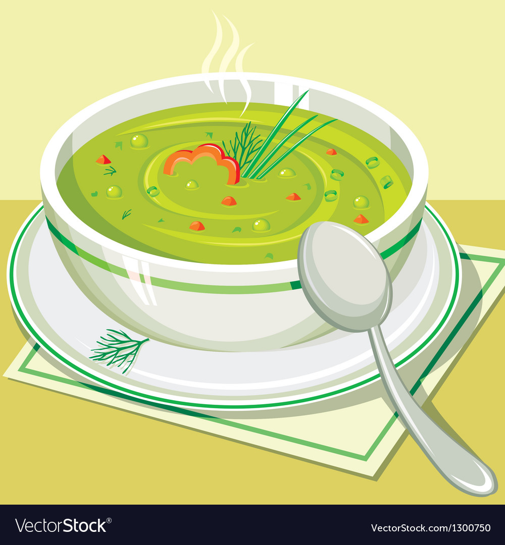 Split pea soup vector | Price: 1 Credit (USD $1)