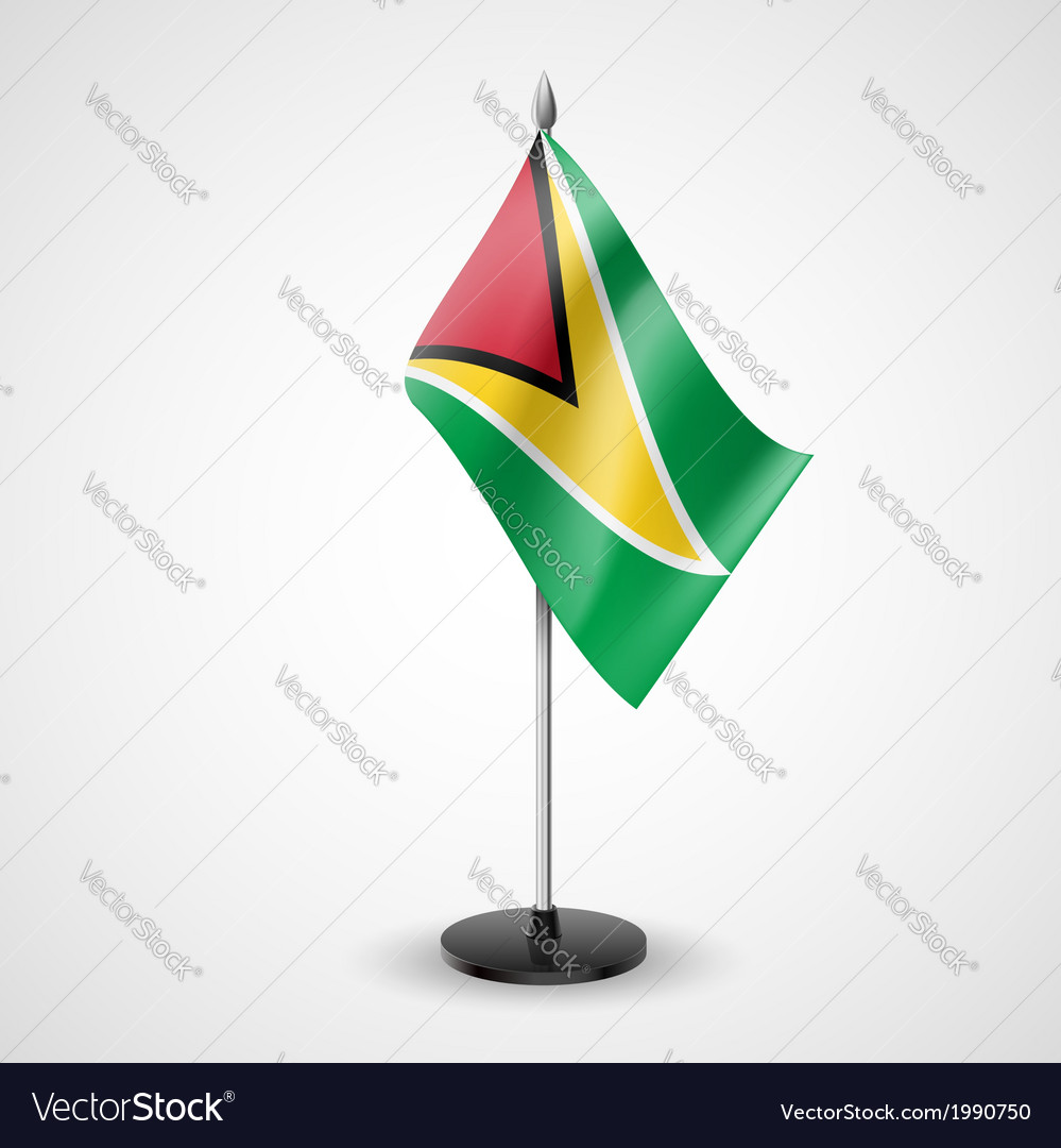 Table flag of guyana vector | Price: 1 Credit (USD $1)