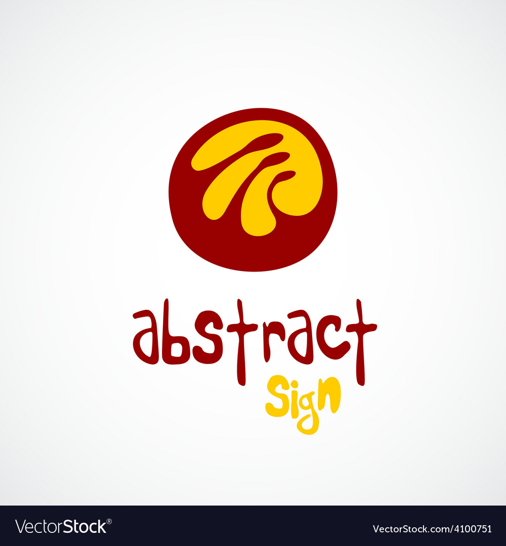 Abstract logo template unusual sign vector   Price: 1 Credit (USD $1)