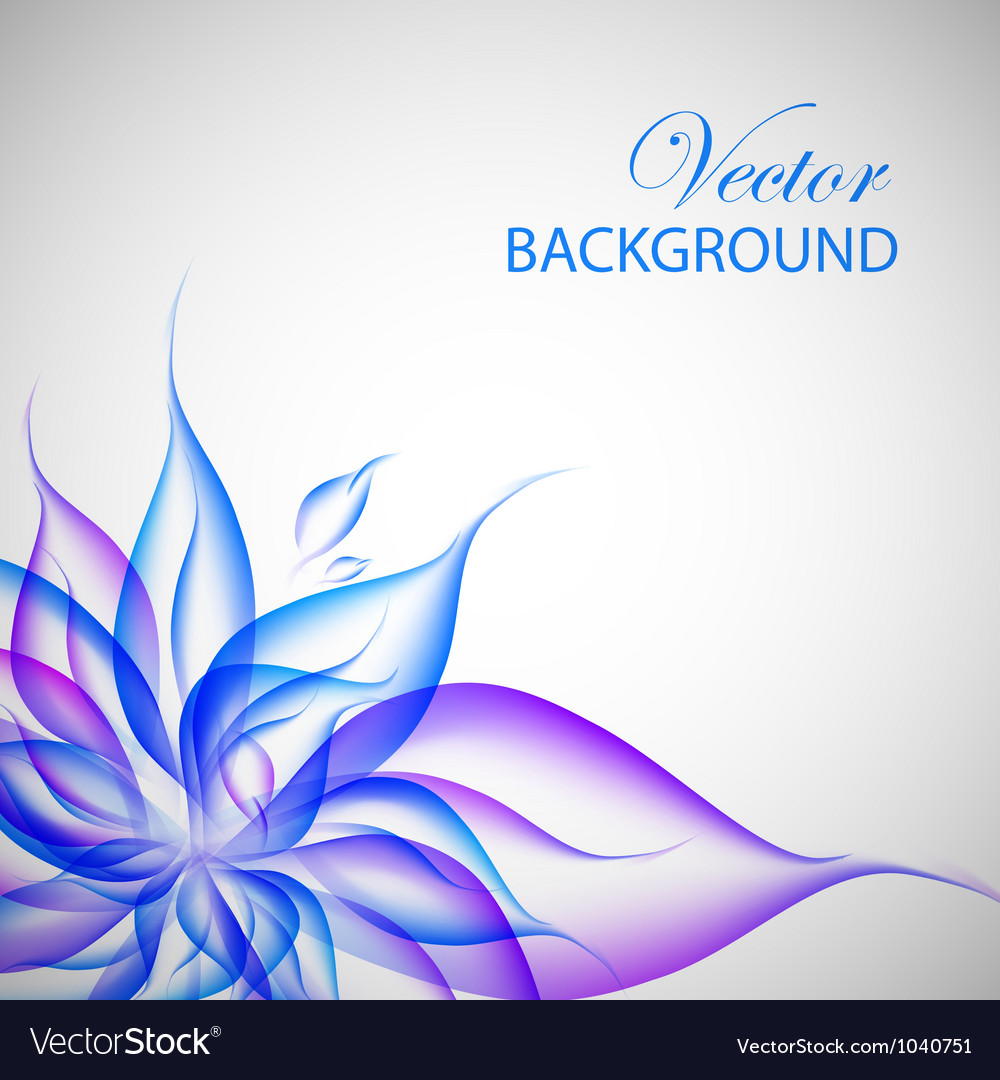 Colorful violet flower vector | Price: 1 Credit (USD $1)