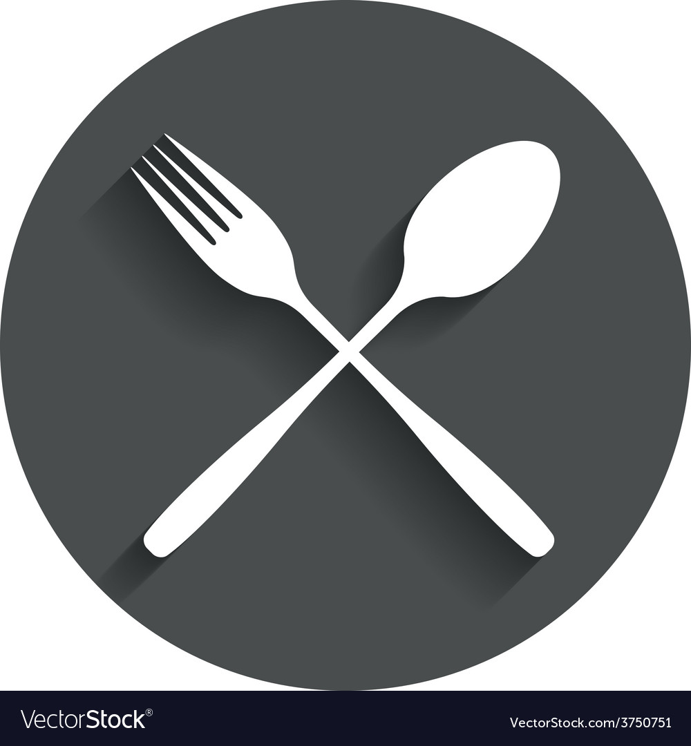 Eat sign icon cutlery symbol fork and spoon vector | Price: 1 Credit (USD $1)