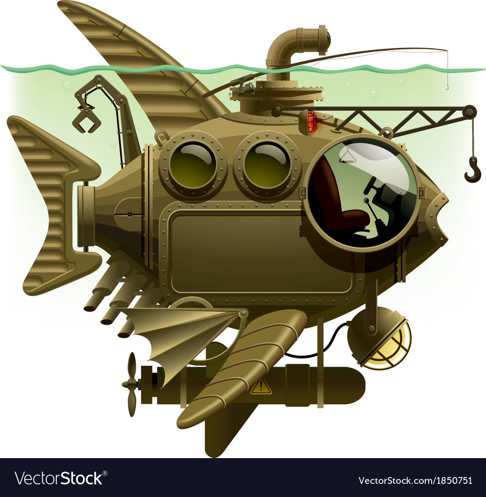 Fish submarine vector | Price: 5 Credit (USD $5)