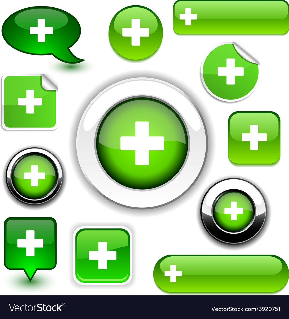 Green cross signs vector | Price: 1 Credit (USD $1)