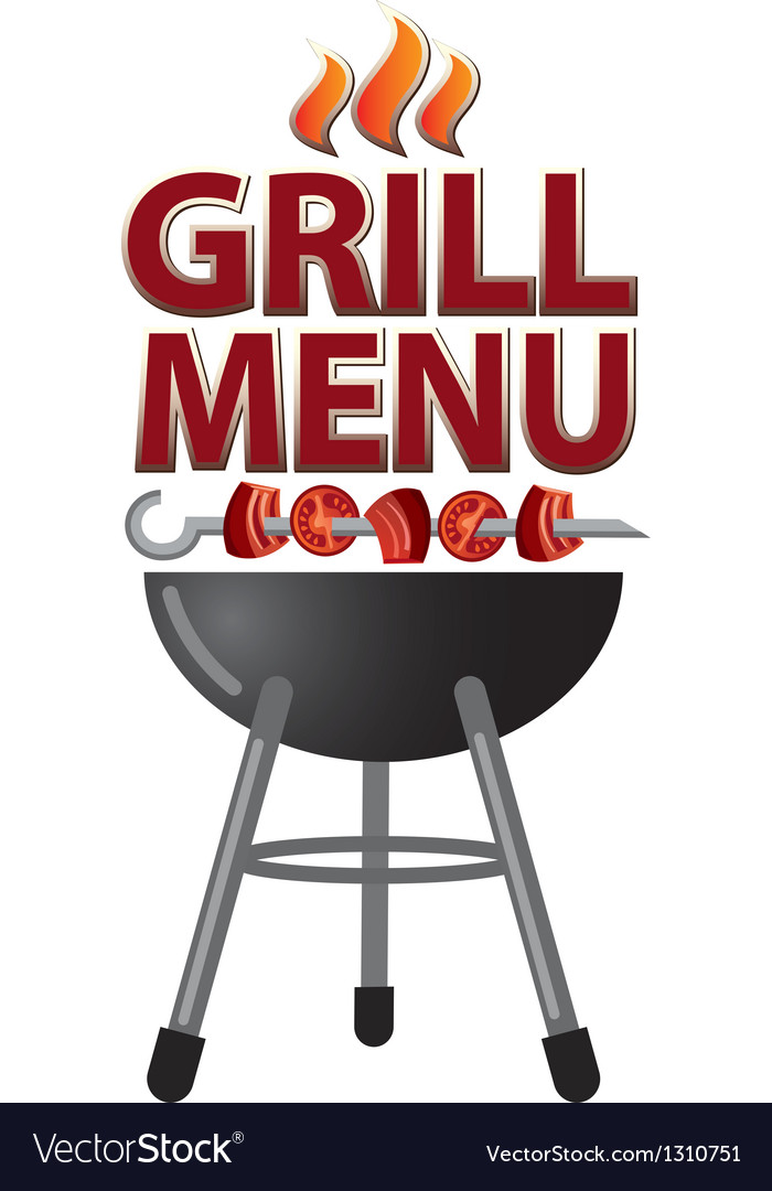 Grill menu sign vector | Price: 3 Credit (USD $3)