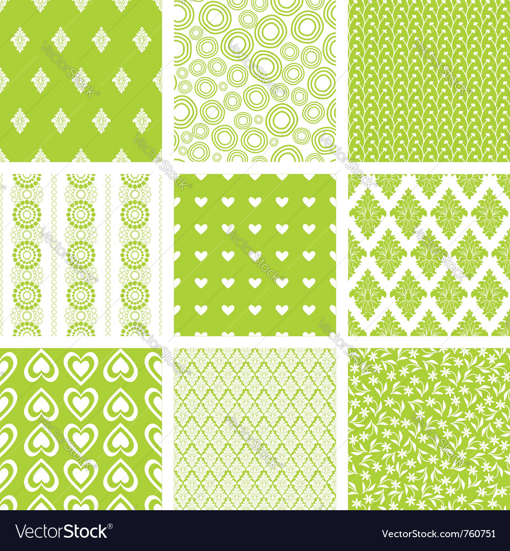 Lime green patterns set vector | Price: 1 Credit (USD $1)