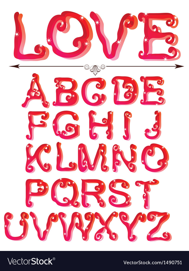 Love abc vector | Price: 1 Credit (USD $1)