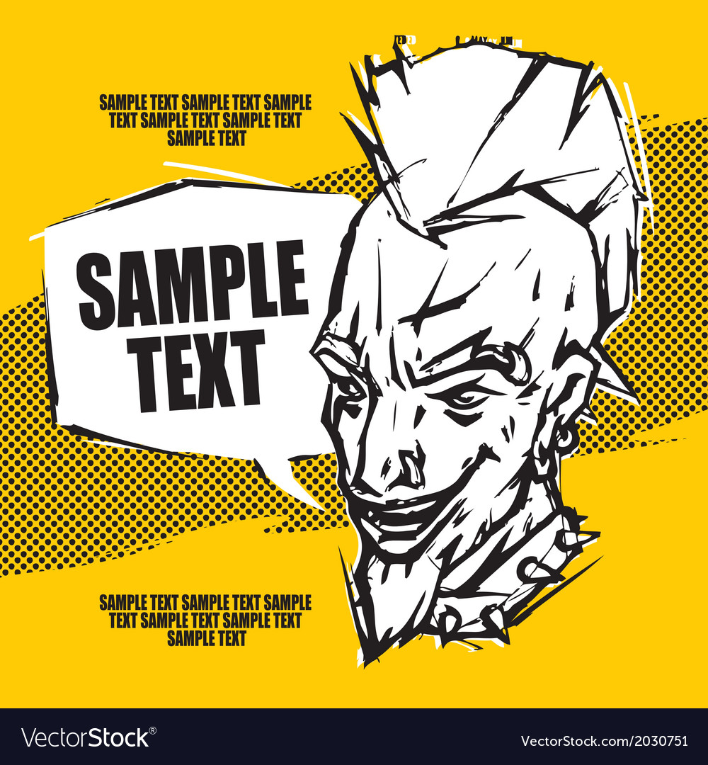 Punk rock concert poster flyer ticket vector | Price: 1 Credit (USD $1)