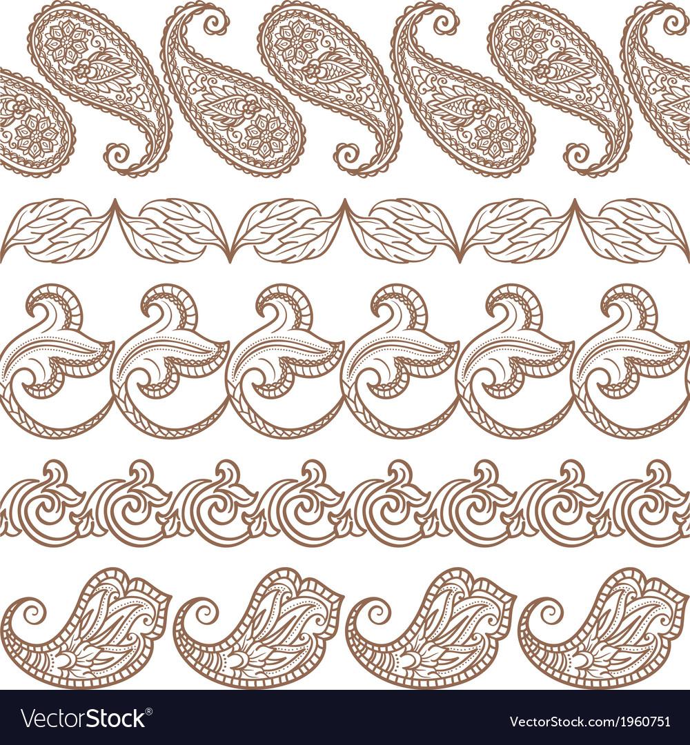 Set of ethnic design elements vector | Price: 1 Credit (USD $1)