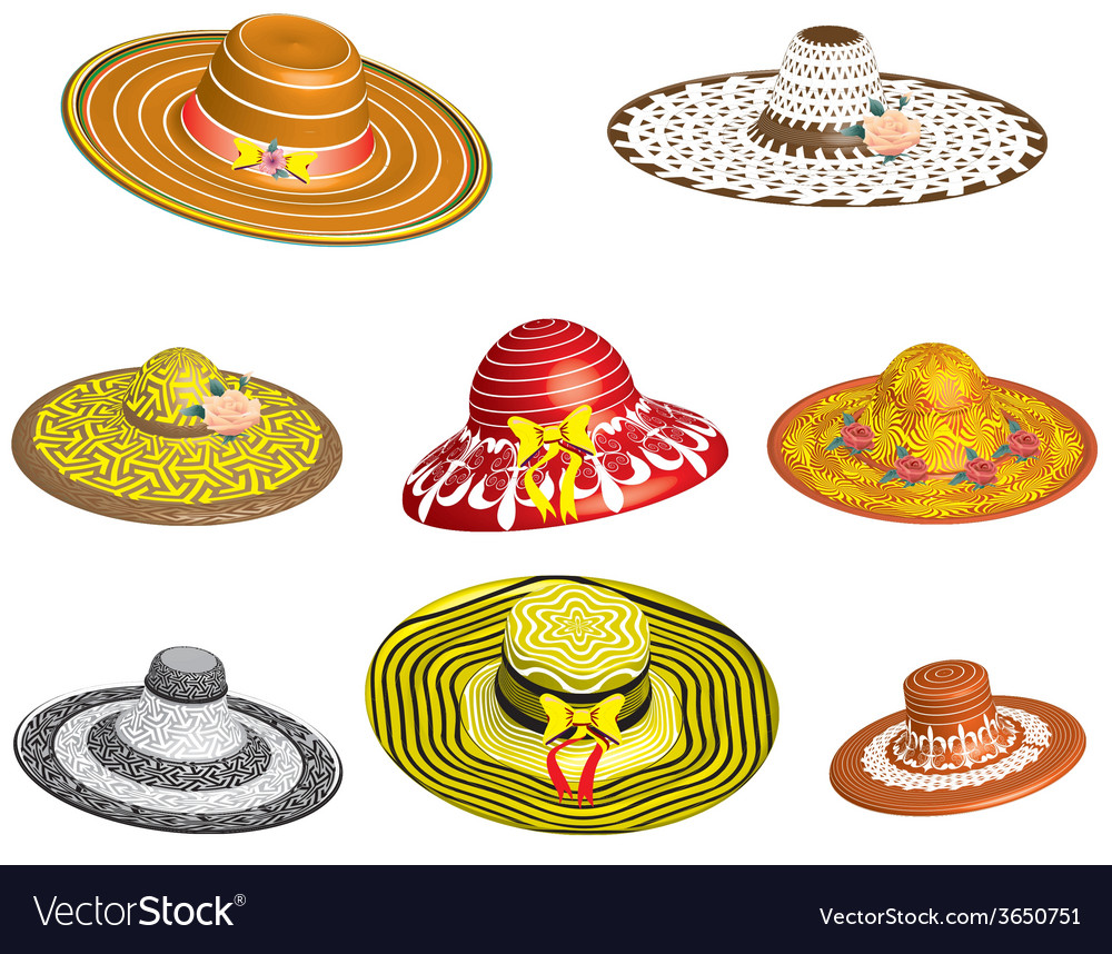 Set of female hats vector | Price: 1 Credit (USD $1)