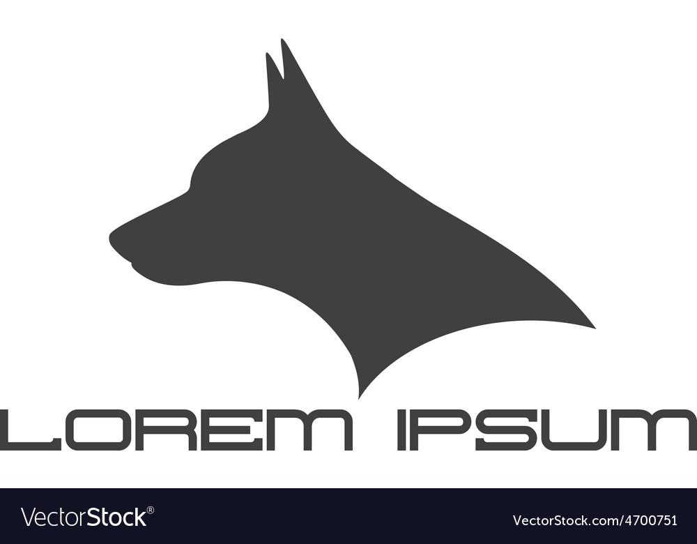 Silhouette of doberman dog head vector | Price: 1 Credit (USD $1)