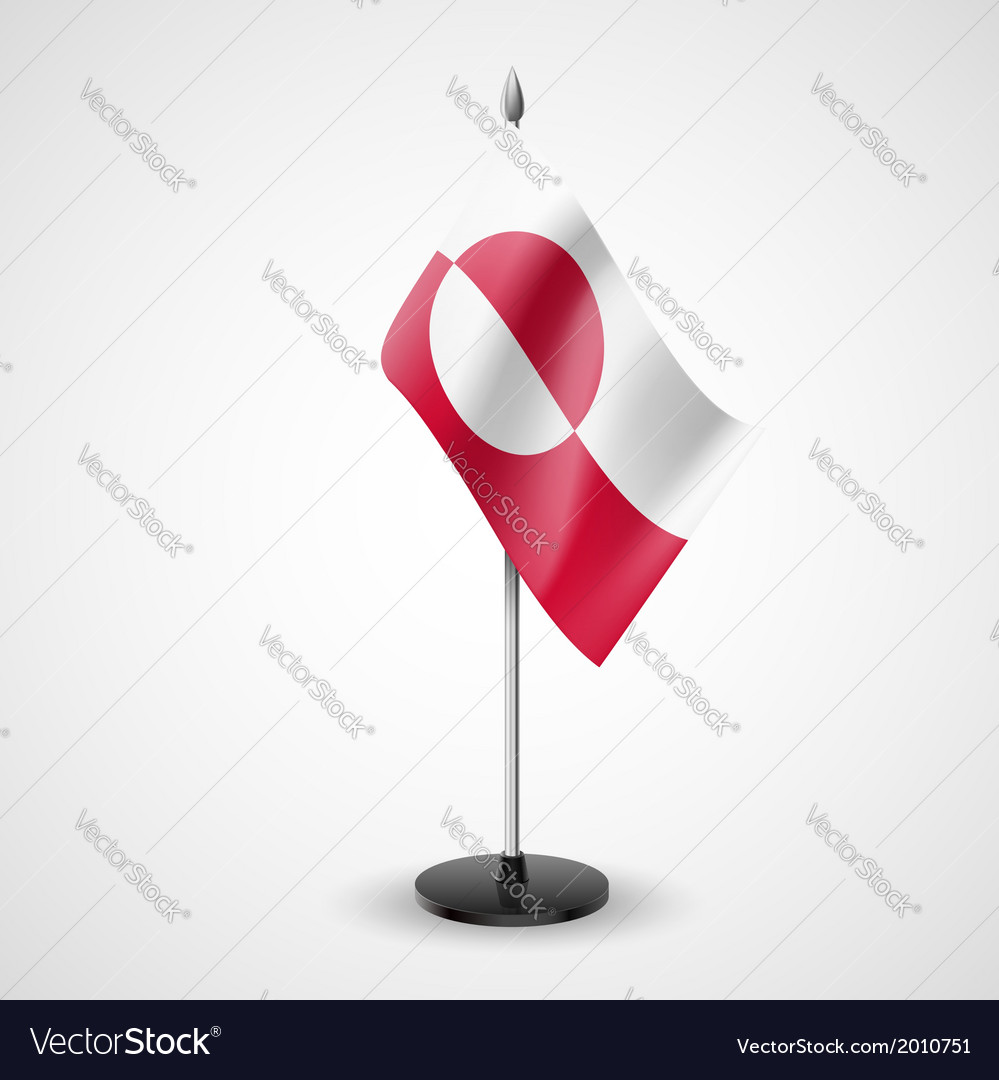 Table flag of greenland vector | Price: 1 Credit (USD $1)