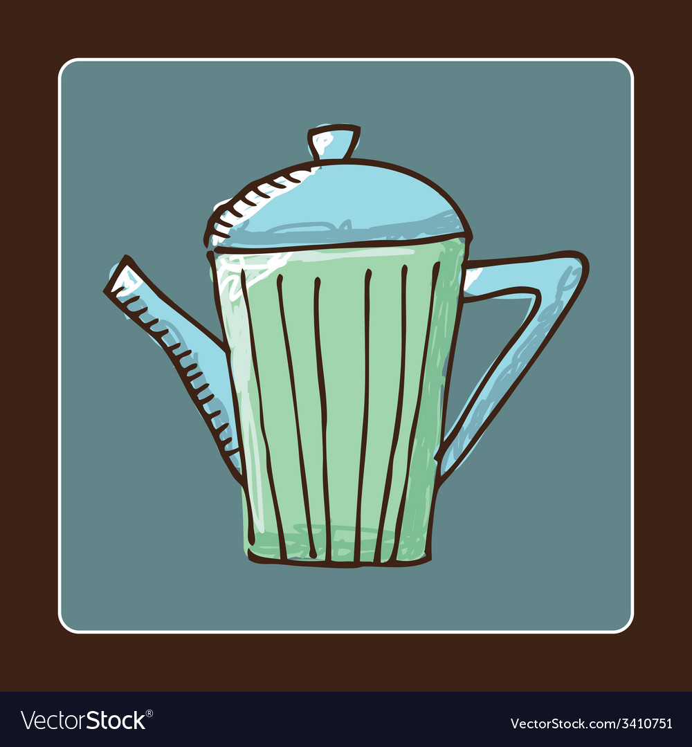 Teapot design vector | Price: 1 Credit (USD $1)