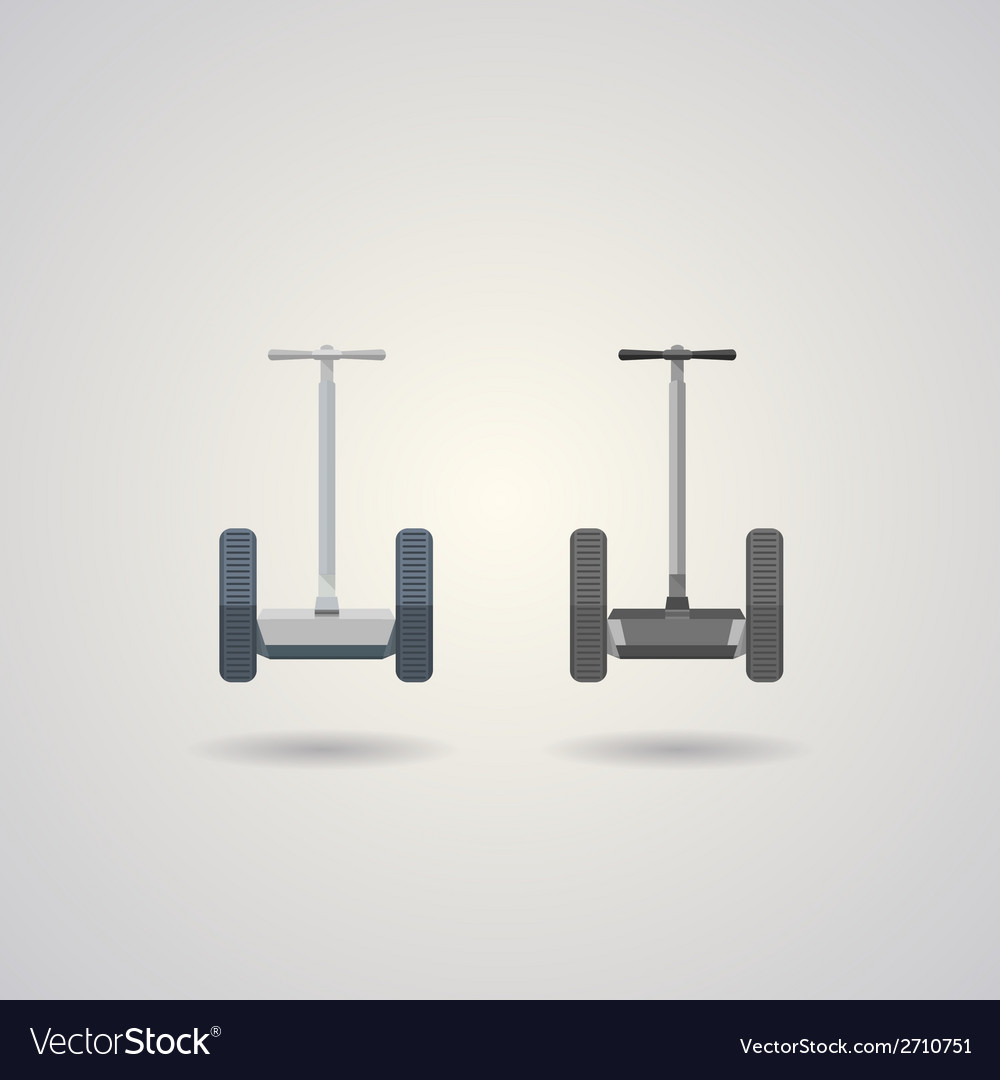 Two segways a front view vector | Price: 1 Credit (USD $1)