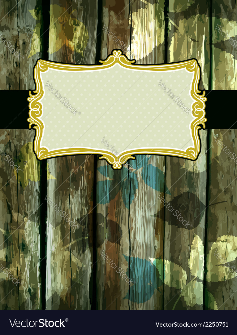 Wooden background with decorative labels suitable vector | Price: 1 Credit (USD $1)