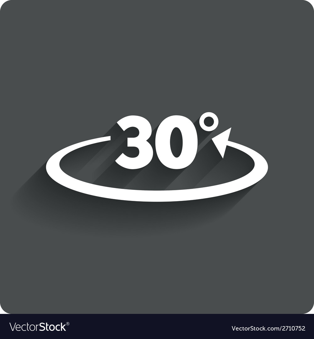 Angle 30 degrees sign icon geometry math symbol vector | Price: 1 Credit (USD $1)