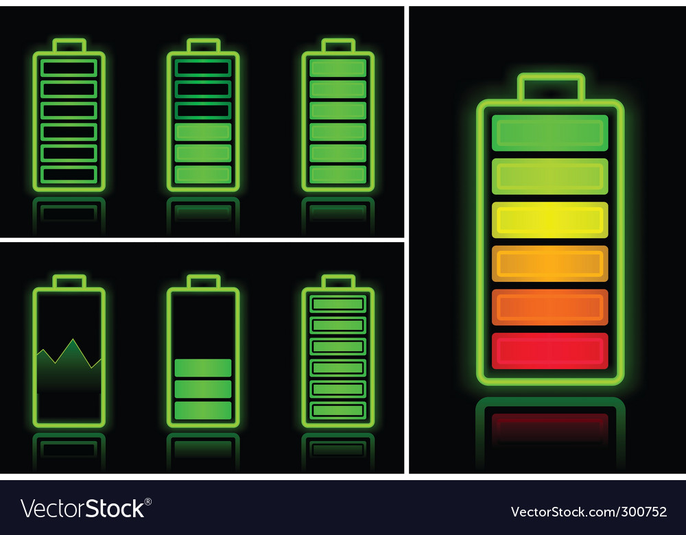 Battery icons vector   Price: 1 Credit (USD $1)