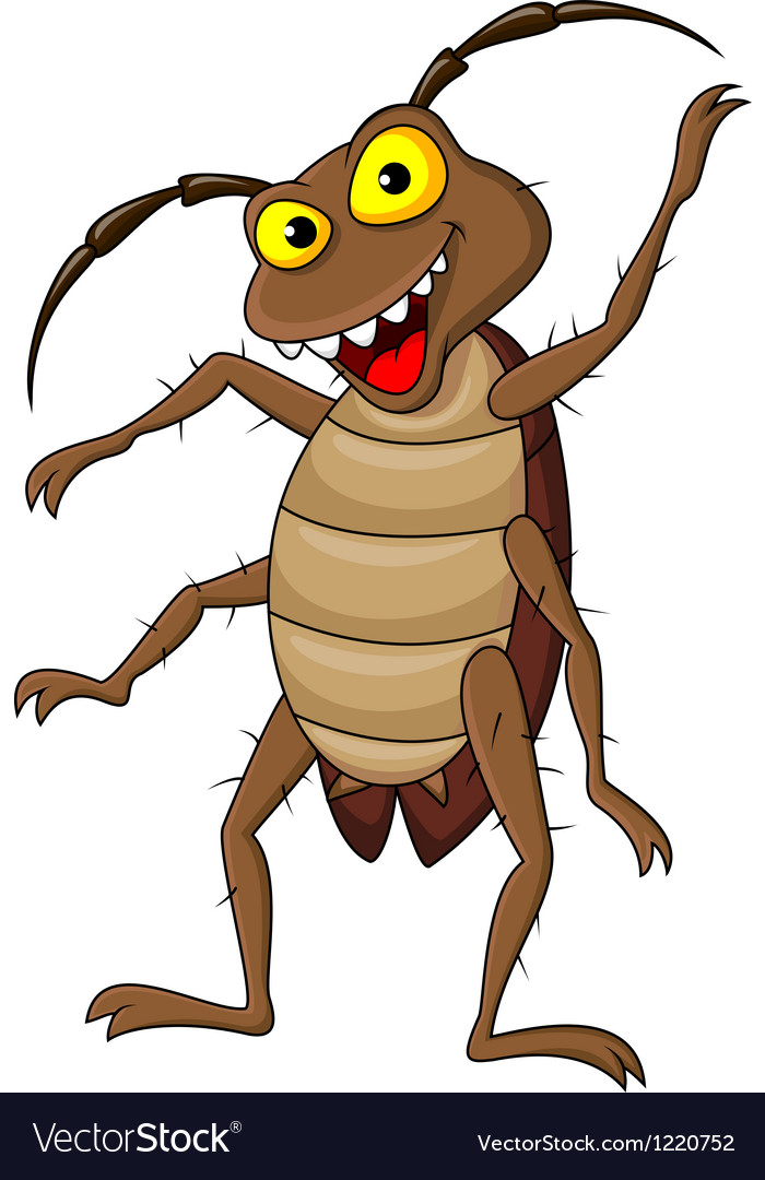 Cockroach cartoon vector | Price: 1 Credit (USD $1)